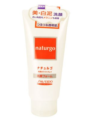 Shiseido naturgo Face Wash Foam White Clay 120g by Shiseido