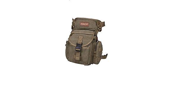 Olive Eurosport Canvas Fanny Pack Drop Leg Panel Thigh Bag B502