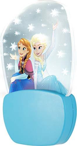 Frozen, Motion Effect, 3027 LED Night Light, Plug-In, Dusk-to-Dawn Sensor, UL Listed, Anna and Elsa, Falling Snow, Ideal for Bedroom, Nursery, Bathroom, Hallway, 30270 (Disney Bathroom Frozen)