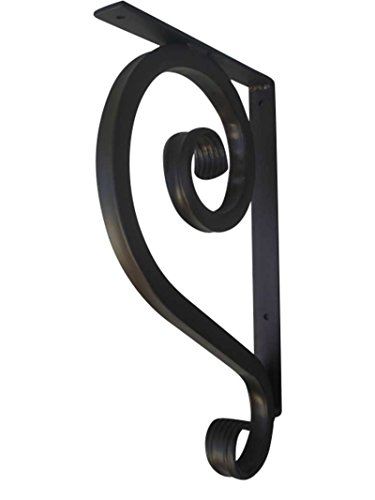"""Shoreline 11""""DX19""""L Standard 1"""" Decorative Scroll Wrought Iron Shelf Bracket for Granite or Other Interior/Exterior Heavy Duty Support-Antique Iron Patina by Shoreline Ornamental Iron"""