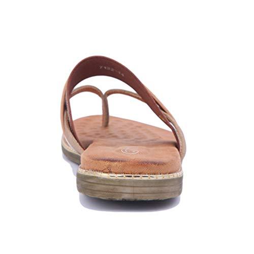 Sandale Chaussures Plage Orange Plates Mode Femmes Sandales Loisir de Plateforme Talon Ouvertes qa8aXw1xg