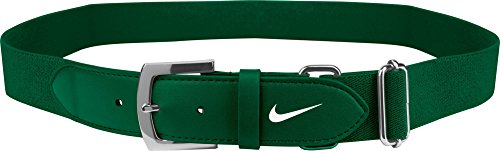Nike Adult Baseball Belt 2.0, (Green/White, OneSizeFitsMost)