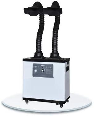 BAOSHISHAN Extractor de Humos de Soldadura Absorbente de Humo Industrial Extractor de Humos Filtro Extractor para Estación de Soldadura ESD (Sistema de dos brazos) 220V