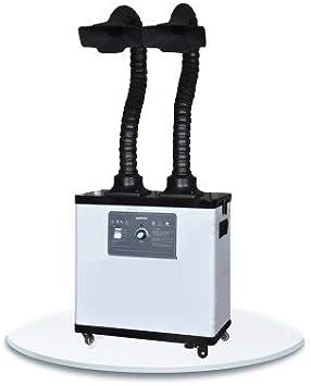 BAOSHISHAN Extractor de Humos de Soldadura Absorbente de Humo Industrial Extractor de Humos Filtro Extractor para Estación de Soldadura ESD (Sistema de dos brazos) 220V: Amazon.es: Bricolaje y herramientas
