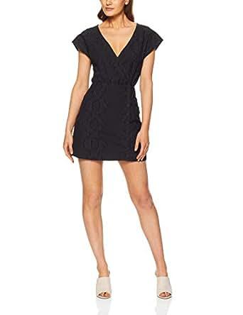 THIRD FORM Women's Fields Cross Over Dress, Black, X-Small