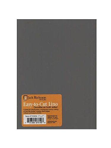 Jack Richeson Unmounted Easy-to-Cut Linoleum 5 in. x 7 in. [PACK OF 4 ]
