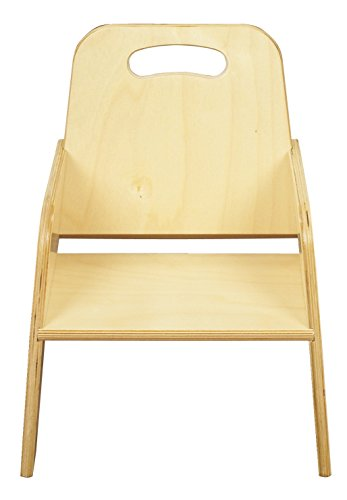 "Bird in Hand 1320385 Stacking Toddler Chair, Seat Height 7"", Natural Wood Tone"