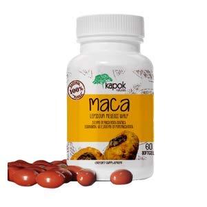Kapok Naturals Maca Root Capsules, Soft-Gel Maca Capsules for Women and Men. 2000mg Maca Root Extract in Each Maca Pill. Natural Adaptogenic Herb for Endurance Energy, Stress and Fatigue. Maca Capsule (Zinc Vitamins Maca)