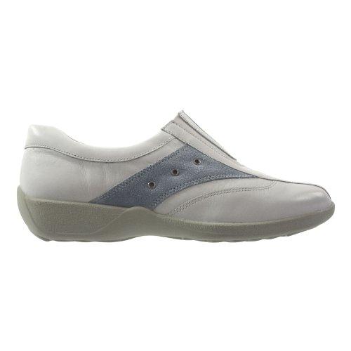 Simona 00718-105 Damen Schuhe Premium Qualität Slipper Weiß (weiss)