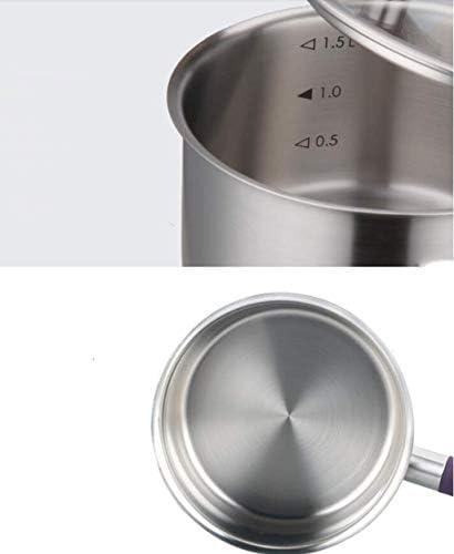 Beau et pratique XLNG en acier inoxydable Lait Pot bébé Pot nourriture Maison multi-fonction marmite à soupe