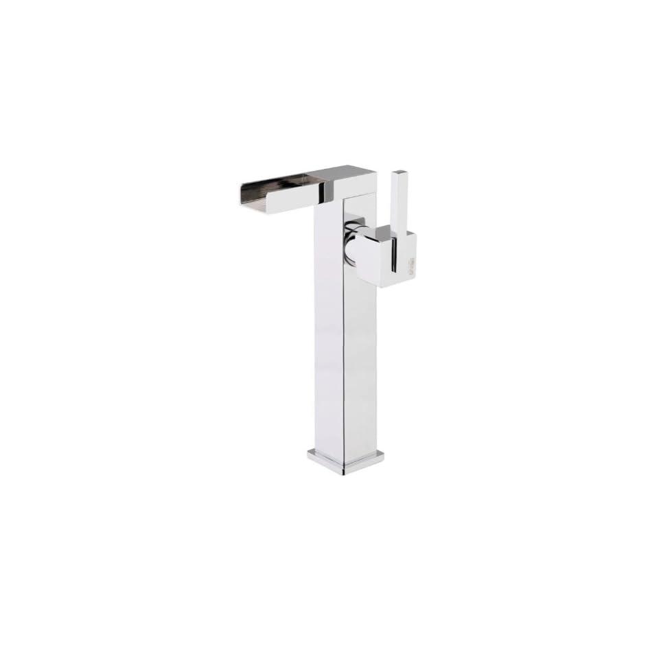 Fiore 71CR7718 One Hole Polished Chrome Bathroom Sink Faucet 71CR7718