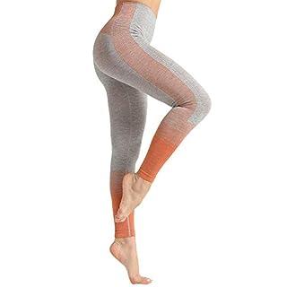Dressystar High Waist Seamless Leggings for Women Workout Running Yoga Pants Tummy Control Orange S