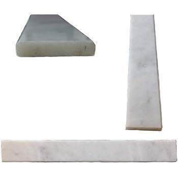 White Carrara Polished Marble Threshold Saddle 6x36