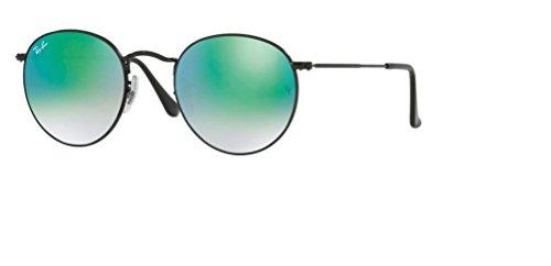 Metal Round Sunglasses Gradient Shiny Black mirror Green Ray Ban Rb3447 CtEnwxIWFq
