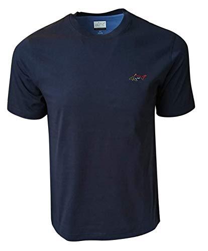 Greg Norman Men's Crew-Neck T-Shirt (X-Large, Navy)