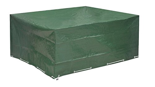 Abdeckung Gartenmöbel, 250cmx210cmx90cm Schutzhülle Gartenmöbel und Abdeckplane für rechteckige Sitzgarnituren, Gartentische und Möbelsets (250cm x 210cm x 90cm)