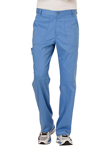 Cherokee Men's Fly Front Pant, Ciel Blue, L from Cherokee