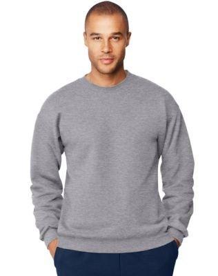Hanes Men's Ultimate Cotton Fleece Crew Sweater, Oxford Gray, XL US