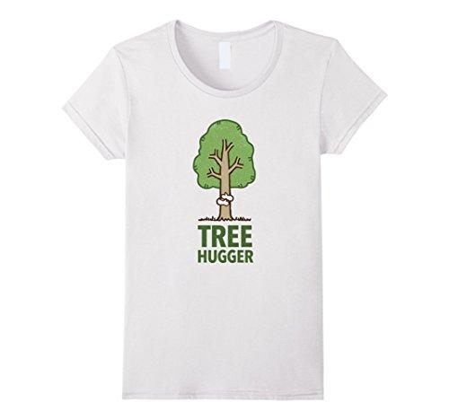 Womens Tree Hugger T-shirt Medium (Hugger White T-shirt)