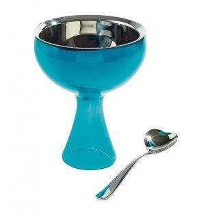 Alessi Big Love Bowl+Spoon, Blue Big Love Ice Cream Bowl