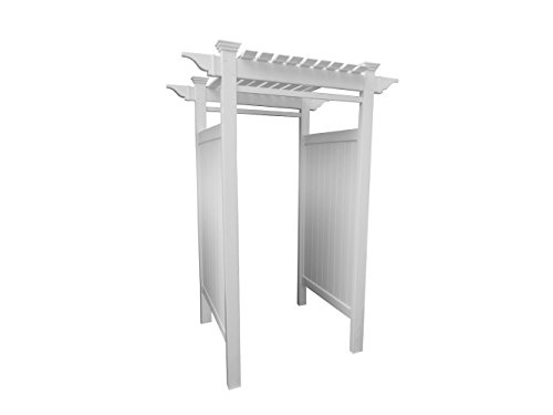 "Zippity Outdoor Products ZP19024 Oceanside Vinyl Shower Kit Enclosure (2 Box Unit), 36"" x 36"" x 93""/61-5/8"" x 88.75"", White"
