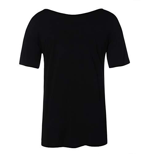 Color Clásico Estlios Negro Sólido Lover Chaleco Básico Redondo Sin Muchos beauty shirt Vendaje Camisa T 3 Mujer 4 Cuello Colores Casual Manga Y Blusa Corta Verano Ajustado Corto Con wv4pxzqwA