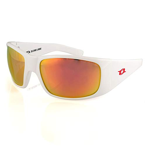 Clear Lake Montana Polarized Polycarbonate Dual Curvature Lenses(White/Red)