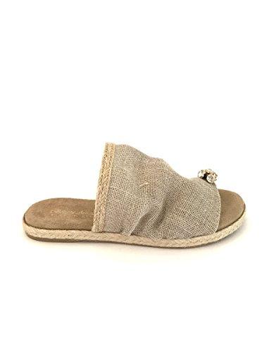 ZETA SHOES - Sandalias de Piel para mujer Beige