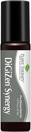 (Plant Therapy DiGiZen Synergy Essential Oil Pre-Diluted Roll-On 10 mL (1/3 oz) 100% Pure, Therapeutic Grade)