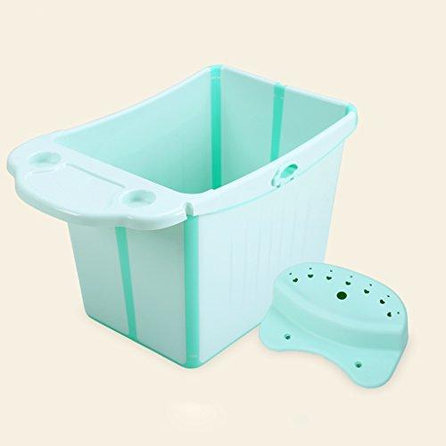 HUACANG Bañera para bebés, Plegable, portátil, niño pequeño, hogar, baño, Grande, tamaño, recién Nacido,...