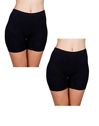Lily & Page Bike Shorts Women- Spandex (2)-Slip Shorts for Under Dresses, Biker Yoga Workout