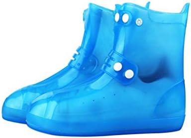 レインブーツ- メンズとレディースレインブーツダブルブレストウォーターシューズセット滑り止め厚い耐摩耗性の靴カバー子供のウォーターシューズ (Color : Blue, Size : 38/39)