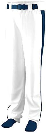 Augusta Sportswear Jungen Youth Triple Play Baseball/Softball Pant XL White/Navy Unterhose, weiß/Marineblau
