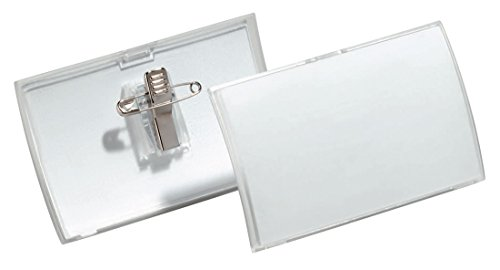 Durable Combi Clip Badge - DURABLE COMBI CLIP NAME BADGE 40X75 PK25