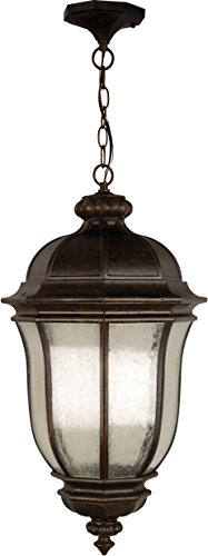 Craftmade Z3321-112 Hanging Lantern with Clear Seeded Glass Shades, Peruvian Bronze Finish by Craftmade
