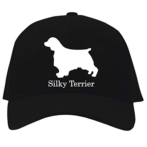 Eddany Silky Terrier Silhouette Baseball Cap Black