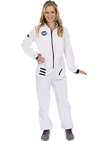 Ladies White Astronaut Spacewoman Space NASA Halloween Costume