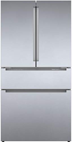 Bosch B36CL80ENS 36″ 800 Series French Door Refrigerator with 20.5 cu. ft. Capacity, FarmFresh System, VitaFreshPro, LED Lighting and MultiAirFlow in Stainless Steel