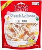 Yummy Earth Organic Lollipops Gluten Free, Mango Tango Flavor 12.30 oz