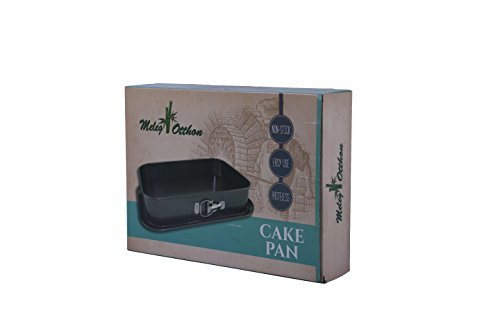 Springform Pan Cheesecake Pan Leakproof Cake Pan Bakeware Rectangle Nonstick Removable Bottom Black (14'' x 9.3'' x 3'') by Meleg Otthon by meleg otthon (Image #6)