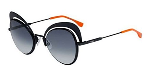 New Fendi EYESHINE FF 0247/S 807/90 Black Grey Shaded Sunglasses