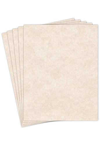 S Superfine Printing 8.5 X 11 Stationery Parchment Recycled Paper 65lb. Cover Cardstock - 250 Sheets Per Pack (Natural Cream)