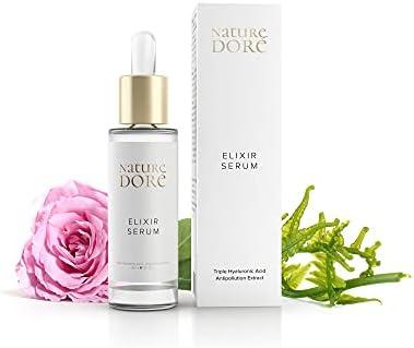 Bio Serum facial Hidratante Ácido Hialurónico Puro 100% Antiarrugas De 3 PESOS Moleculares-ORGANICO Agua de Rosas, Dia Noche, Nutriente- Antiedad Hombre Mujer Contorno de Ojos