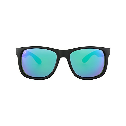 Woosh Polycarbonate Matte Finish UV Protected Sunglasses 139x51x141 Eyewear - Quantity: 1, Green Lenses Sunglasses for Men Women