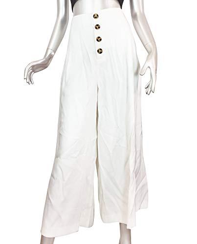 Pantaloni cropped 252 Donna 4432 bottoni Zara aq8wz