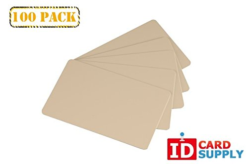 Pack of 100 Tan CR80 Standard Size PVC Cards | 30 mil Thickness by easyIDea