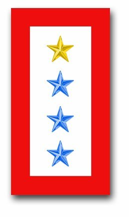 Military Vet Shop ONE Gold and Three Blue Star' Service Flag Window Car Bumper Sticker Vinyl Decal ()