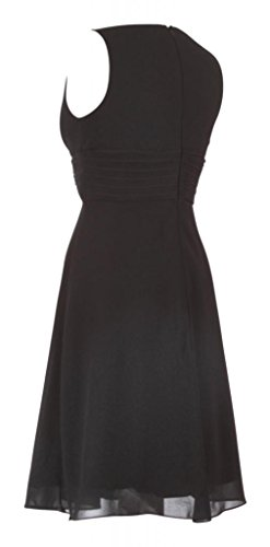 Dress en cuello pico fiesta cóctel Evening Vestido gasa My corto negro 8nZ5Yfq