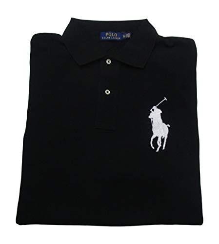 Men's Big and Tall Big Pony Mesh Polo Shirt (XL Tall, Polo Black) ()