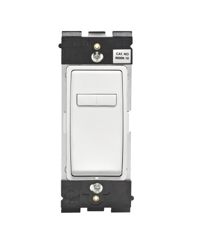 Coordinating Remote Dimmer - Leviton RE00R-WW Renu Coordinating Dimmer Remote for 3-Way or Multi-Location Control, for use with REI06, in White on White